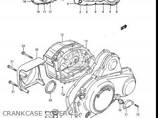 Suzuki Gv1400gc Cavalcade 1986 g Usa e03 Gv1400 Gc Gc1400-gc Crankcase Cover