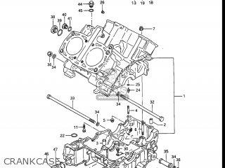 Suzuki Gv1400gc Cavalcade 1986 g Usa e03 Gv1400 Gc Gc1400-gc Crankcase