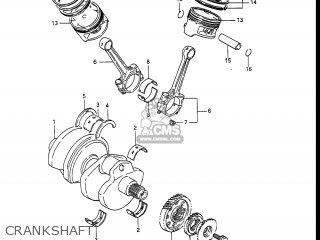 Suzuki Gv1400gc Cavalcade 1986 g Usa e03 Gv1400 Gc Gc1400-gc Crankshaft