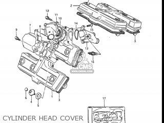 Suzuki Gv1400gc Cavalcade 1986 g Usa e03 Gv1400 Gc Gc1400-gc Cylinder Head Cover