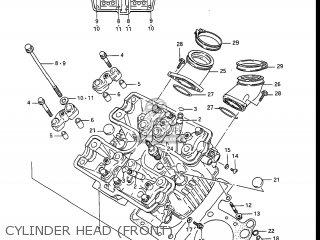 Suzuki Gv1400gc Cavalcade 1986 g Usa e03 Gv1400 Gc Gc1400-gc Cylinder Head front