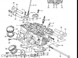 Suzuki Gv1400gc Cavalcade 1986 g Usa e03 Gv1400 Gc Gc1400-gc Cylinder Head rear