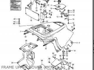 Suzuki Gv1400gc Cavalcade 1986 g Usa e03 Gv1400 Gc Gc1400-gc Frame Upper Cover model G