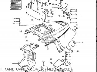 Suzuki Gv1400gc Cavalcade 1986 g Usa e03 Gv1400 Gc Gc1400-gc Frame Upper Cover model H j