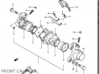Suzuki Gv1400gc Cavalcade 1986 g Usa e03 Gv1400 Gc Gc1400-gc Front Calipers