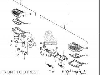 Suzuki Gv1400gc Cavalcade 1986 g Usa e03 Gv1400 Gc Gc1400-gc Front Footrest