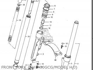 Suzuki Gv1400gc Cavalcade 1986 g Usa e03 Gv1400 Gc Gc1400-gc Front Fork gv1400gcg model H j