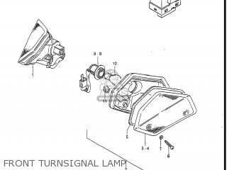 Suzuki Gv1400gc Cavalcade 1986 g Usa e03 Gv1400 Gc Gc1400-gc Front Turnsignal Lamp