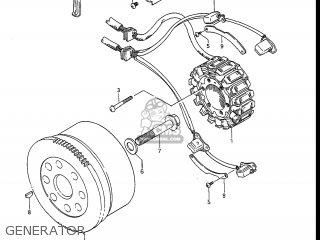 Suzuki Gv1400gc Cavalcade 1986 g Usa e03 Gv1400 Gc Gc1400-gc Generator
