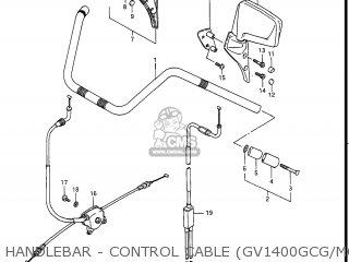 Suzuki Gv1400gc Cavalcade 1986 g Usa e03 Gv1400 Gc Gc1400-gc Handlebar - Control Cable gv1400gcg model H j