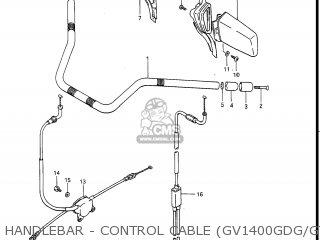 Suzuki Gv1400gc Cavalcade 1986 g Usa e03 Gv1400 Gc Gc1400-gc Handlebar - Control Cable gv1400gdg gtg
