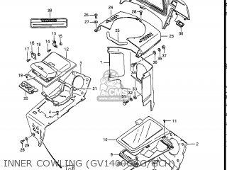 Suzuki Gv1400gc Cavalcade 1986 g Usa e03 Gv1400 Gc Gc1400-gc Inner Cowling gv1400gcg gch