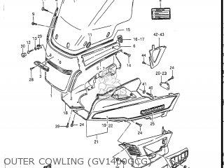 Suzuki Gv1400gc Cavalcade 1986 g Usa e03 Gv1400 Gc Gc1400-gc Outer Cowling gv1400gcg