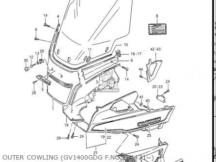 Suzuki Gv1400gc Cavalcade 1986 g Usa e03 Gv1400 Gc Gc1400-gc Outer Cowling gv1400gdg F no 104471~