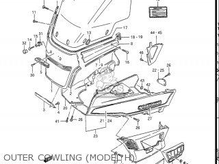 Suzuki Gv1400gc Cavalcade 1986 g Usa e03 Gv1400 Gc Gc1400-gc Outer Cowling model H