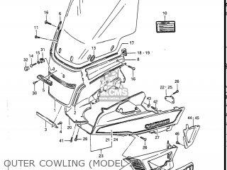 Suzuki Gv1400gc Cavalcade 1986 g Usa e03 Gv1400 Gc Gc1400-gc Outer Cowling model J