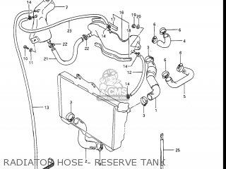 Suzuki Gv1400gc Cavalcade 1986 g Usa e03 Gv1400 Gc Gc1400-gc Radiator Hose - Reserve Tank