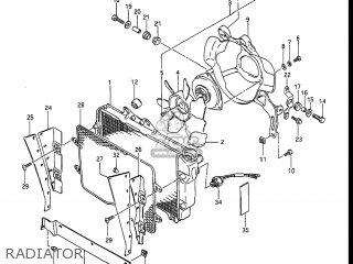 Suzuki Gv1400gc Cavalcade 1986 g Usa e03 Gv1400 Gc Gc1400-gc Radiator