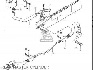 Suzuki Gv1400gc Cavalcade 1986 g Usa e03 Gv1400 Gc Gc1400-gc Rear Master Cylinder