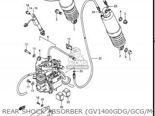 Suzuki Gv1400gc Cavalcade 1986 g Usa e03 Gv1400 Gc Gc1400-gc Rear Shock Absorber gv1400gdg gcg model H j