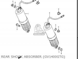 Suzuki Gv1400gc Cavalcade 1986 g Usa e03 Gv1400 Gc Gc1400-gc Rear Shock Absorber gv1400gtg