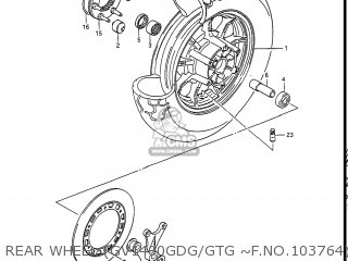 Suzuki Gv1400gc Cavalcade 1986 g Usa e03 Gv1400 Gc Gc1400-gc Rear Wheel gv1400gdg gtg ~f no 103764