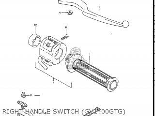 Suzuki Gv1400gc Cavalcade 1986 g Usa e03 Gv1400 Gc Gc1400-gc Right Handle Switch gv1400gtg