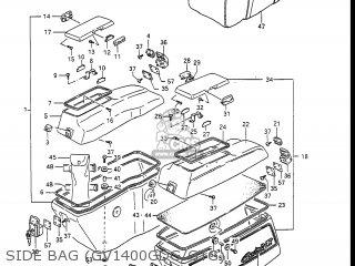 Suzuki Gv1400gc Cavalcade 1986 g Usa e03 Gv1400 Gc Gc1400-gc Side Bag gv1400gdg gtg