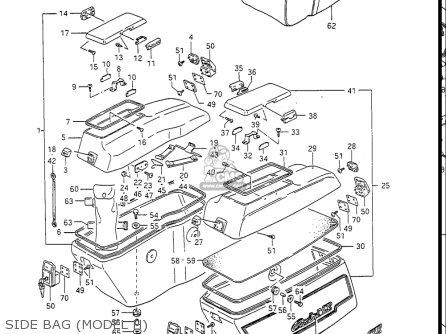 Suzuki Gv1400gc Cavalcade 1986 g Usa e03 Gv1400 Gc Gc1400-gc Side Bag model H