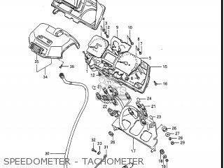 Suzuki Gv1400gc Cavalcade 1986 g Usa e03 Gv1400 Gc Gc1400-gc Speedometer - Tachometer