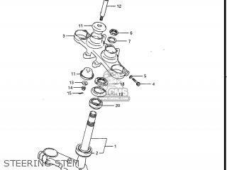 Suzuki Gv1400gc Cavalcade 1986 g Usa e03 Gv1400 Gc Gc1400-gc Steering Stem