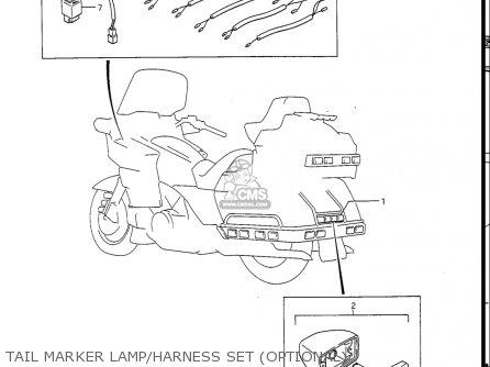 Suzuki Gv1400gc Cavalcade 1986 g Usa e03 Gv1400 Gc Gc1400-gc Tail Marker Lamp harness Set optional