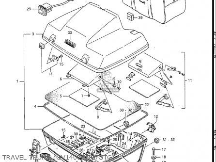 Suzuki Gv1400gc Cavalcade 1986 g Usa e03 Gv1400 Gc Gc1400-gc Travel Trunk gv1400gdg gtg