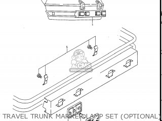 Suzuki Gv1400gc Cavalcade 1986 g Usa e03 Gv1400 Gc Gc1400-gc Travel Trunk Marker Lamp Set optional