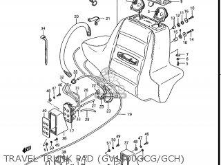 Suzuki Gv1400gc Cavalcade 1986 g Usa e03 Gv1400 Gc Gc1400-gc Travel Trunk Pad gv1400gcg gch