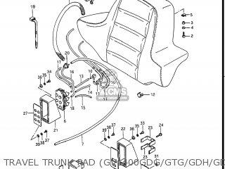 Suzuki Gv1400gc Cavalcade 1986 g Usa e03 Gv1400 Gc Gc1400-gc Travel Trunk Pad gv1400gdg gtg gdh gdj