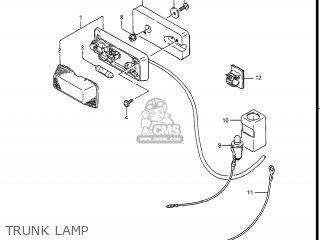 Suzuki Gv1400gc Cavalcade 1986 g Usa e03 Gv1400 Gc Gc1400-gc Trunk Lamp