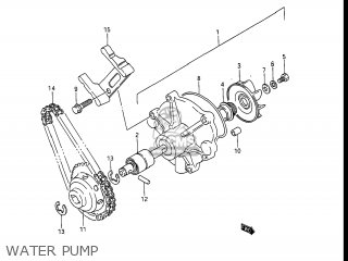 Suzuki Gv1400gc Cavalcade 1986 g Usa e03 Gv1400 Gc Gc1400-gc Water Pump