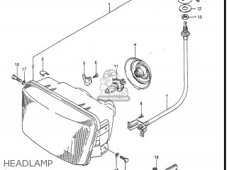 Suzuki Gv1400gc Cavalcade 1986 g Usa e03 Headlamp