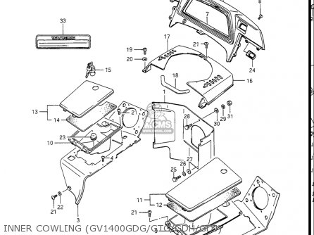 Suzuki Gv1400gc Cavalcade 1986 g Usa e03 Inner Cowling gv1400gdg gtg gdh gdj