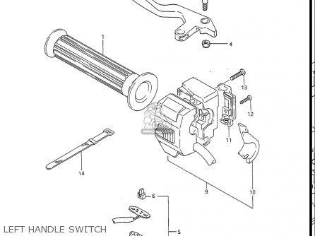 Suzuki Gv1400gc Cavalcade 1986 g Usa e03 Left Handle Switch