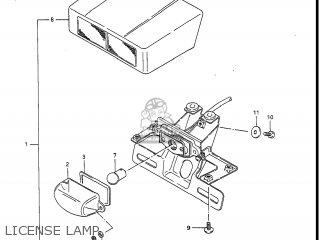 Suzuki Gv1400gc Cavalcade 1986 g Usa e03 License Lamp