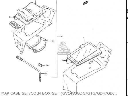 Suzuki Gv1400gc Cavalcade 1986 g Usa e03 Map Case Set coin Box Set gv1400gdg gtg gdh gdj Opt