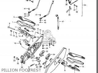 Suzuki Gv1400gc Cavalcade 1986 g Usa e03 Pillion Footrest