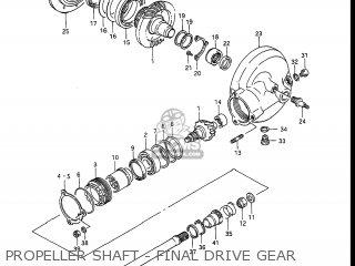 Suzuki Gv1400gc Cavalcade 1986 g Usa e03 Propeller Shaft - Final Drive Gear