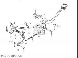 Suzuki Gv1400gc Cavalcade 1986 g Usa e03 Rear Brake