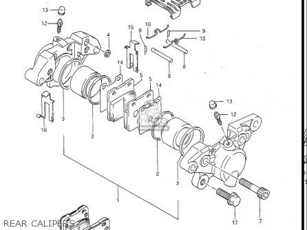 Suzuki Gv1400gc Cavalcade 1986 g Usa e03 Rear Calipers