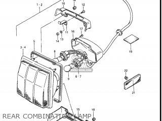 Suzuki Gv1400gc Cavalcade 1986 g Usa e03 Rear Combination Lamp
