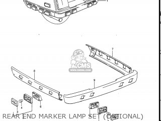 Suzuki Gv1400gc Cavalcade 1986 g Usa e03 Rear End Marker Lamp Set optional