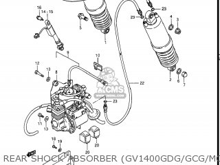 Suzuki Gv1400gc Cavalcade 1986 g Usa e03 Rear Shock Absorber gv1400gdg gcg model H j